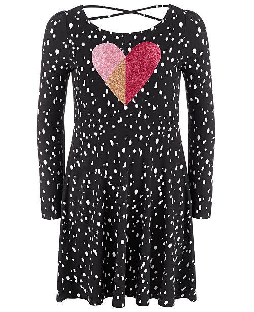 Epic Threads Little Girls Dot Heart Dress, Created For Macy's
