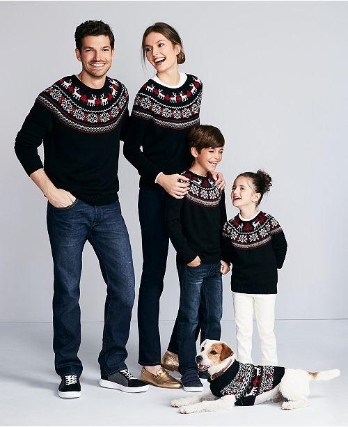 Charter Club Fair Isle Family Sweaters, Created For Macy's