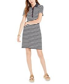 Cotton Striped Polo Dress