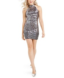 Merlyn Iridescent Sequined Dress