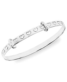 Children's Hearts Bangle in Sterling Silver 18 Months-3 Years