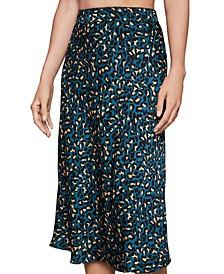 Cheetah-Print Midi Skirt