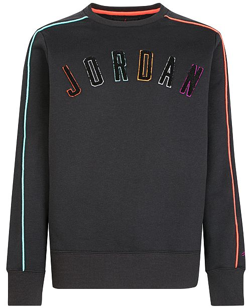 Jordan Big Boys Multi-Color Logo Sweatshirt