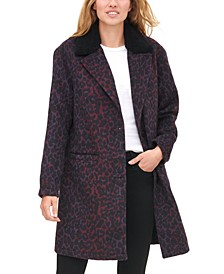 Women's Animal Print Overcoat