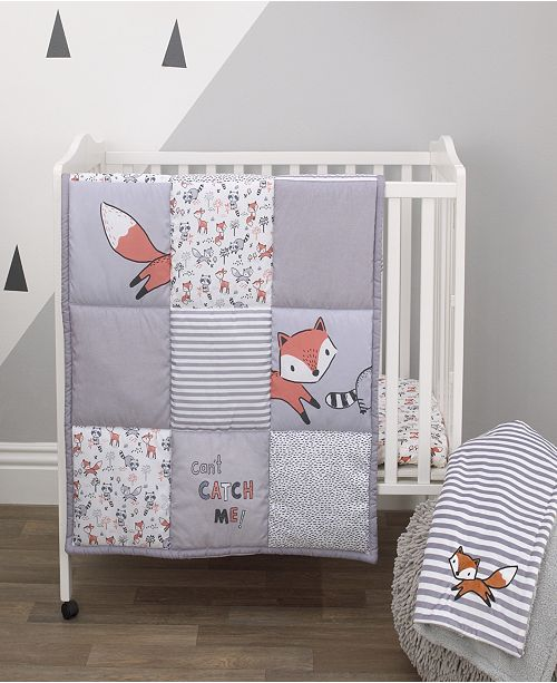 NoJo Lil Fox 3-Piece Mini Crib Bedding Set