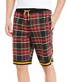 INC Men's Plaid Drawstring Shorts, Created For Macy's