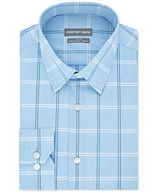 Men's Slim-Fit Performance Stretch Check Dress Shirt