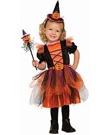 Baby Girls Deluxe Pumpkin Witch Deluxe Costume
