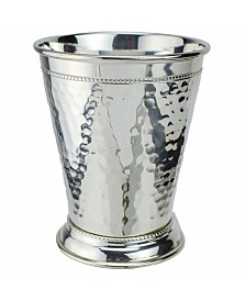Hammered Copper Mint Julep Cup with Pure Silver Plate