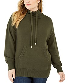 Plus Size Cotton Hooded Sweatshirt