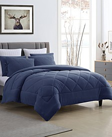 Fleece and Microfiber Reversible Twin/Twin XL Comforter Set
