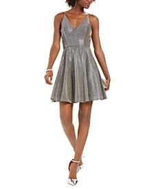 Glitter Fit & Flare Dress
