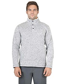 Men's 1/4 Snap 2-Tone Fleece Anorak Pullover
