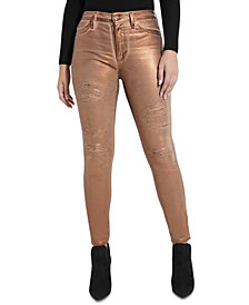 GUESS 1981 Metallic Skinny Jeans