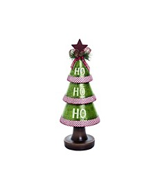 Resin Small Green Christmas HO-HO-HO Tree