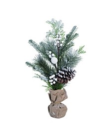 Pinecone Small White Christmas Snowy Pine Tree