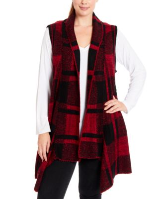 Joseph A Shawl-Collar Duster Sweater Vest