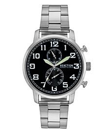 Men's Silver-Tone Metal Bracelet Watch, 46mm