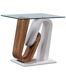 Amanon Pedestal Base End Table