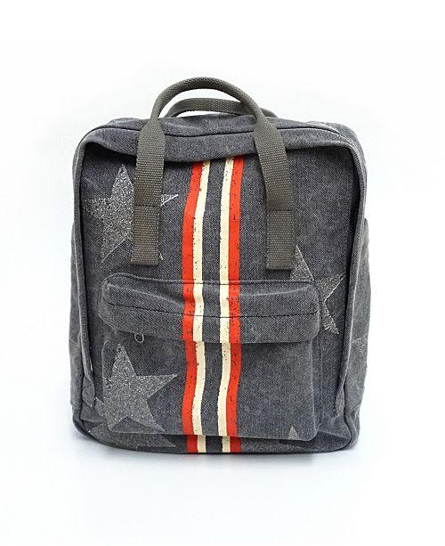 Vintage Havana Backpack With Racing Stripe
