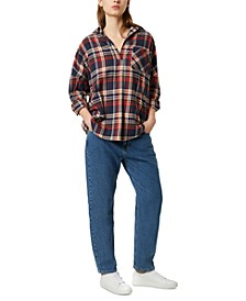 Rhodes Cotton Flannel Plaid Shirt