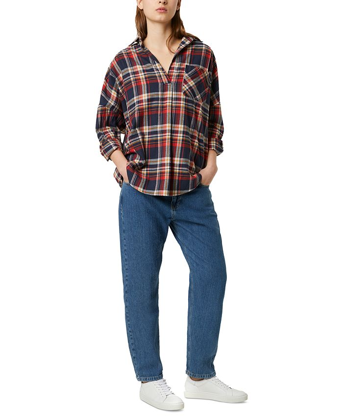 French Connection - Rhodes Cotton Flannel Plaid Shirt