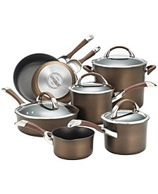 Symmetry Chocolate 11-Pc. Cookware Set