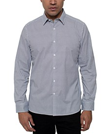 Men's Performance Stretch Triangle-Print Shirt