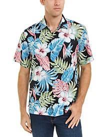 Men's Konkan Jungle Classic-Fit Stretch Floral-Print Camp Shirt