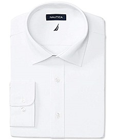 Men's Classic/Regular-Fit Comfort Stretch White Solid Dress Shirt