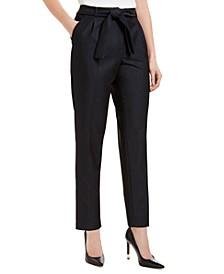 Tie-Front Slim Fit Pants