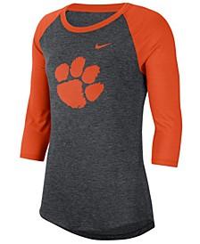 Women's Clemson Tigers Logo Raglan T-Shirt