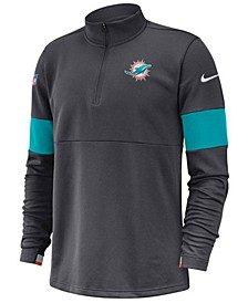 Men's Miami Dolphins Sideline Therma-Fit Half-Zip Top