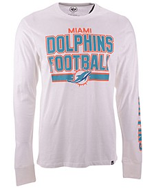Men's Miami Dolphins Dub Stack Super Rival Long Sleeve T-Shirt