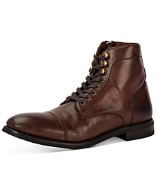Men's Ben Cap-Toe Leather Lace-Up Boots, Created for Macy's