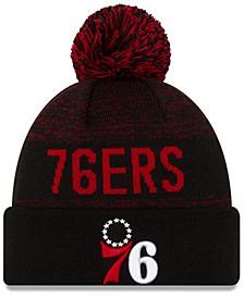Philadelphia 76ers Blackout Speckle Knit Hat