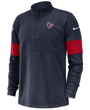 Nike Men's Houston Texans Sideline Therma-Fit Half-Zip Top