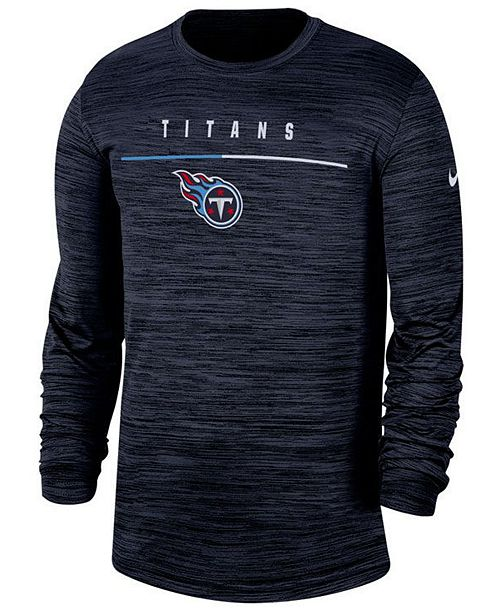 Nike Men's Tennessee Titans Sideline Legend Velocity Travel Long Sleeve T-Shirt
