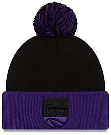Sacramento Kings Black Pop Knit Hat