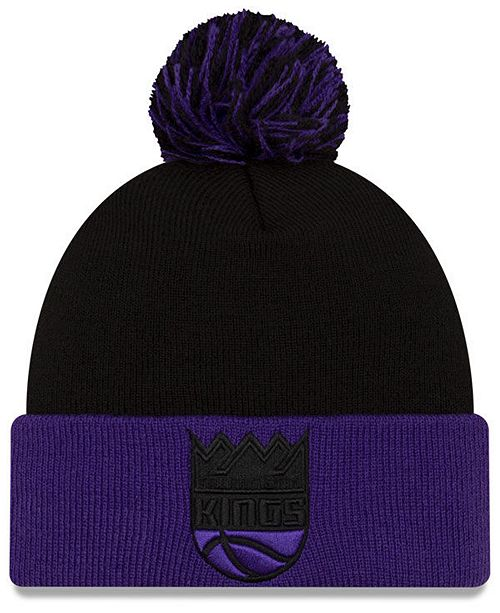 New Era Sacramento Kings Black Pop Knit Hat