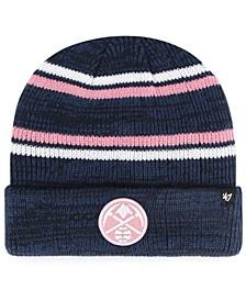 Denver Nuggets Marled Stripe Cuff Knit Hat