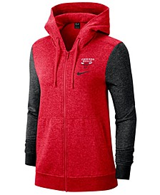 Women's Chicago Bulls Full-Zip Club Fleece Jacket