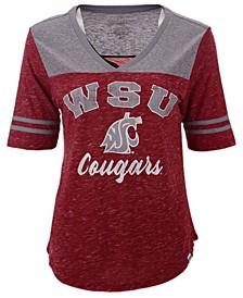 Women's Washington State Cougars Mr Big V-neck T-Shirt