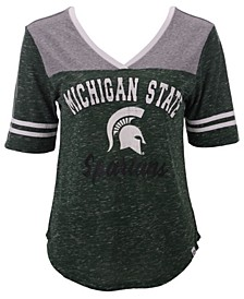 Women's Michigan State Spartans Mr Big V-neck T-Shirt