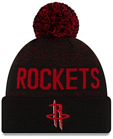 Houston Rockets Blackout Speckle Knit Hat