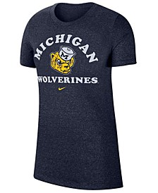 Women's Michigan Wolverines Marled T-Shirt