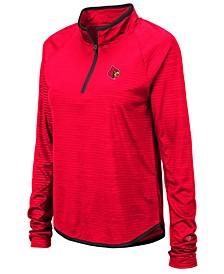 Women's Louisville Cardinals Soulmate Quarter-Zip Pullover