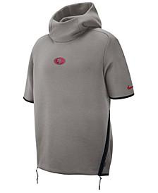 Men's San Francisco 49ers Player Repel Short Sleeve Hoodie