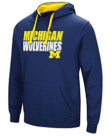 Men's Michigan Wolverines Poly Performance Hooded Sweatshirt