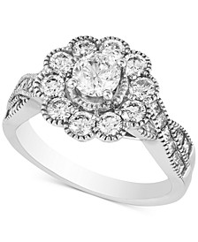 Diamond Twist Setting Statement Ring (1-5/8 ct. t.w.) in 14k White Gold